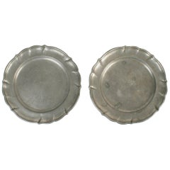 Pair of 18th Century German Pewter Plates