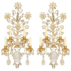 Pair of New Rock Crystal Sconces