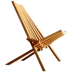 1960s Birch Foldable Lounge Chair