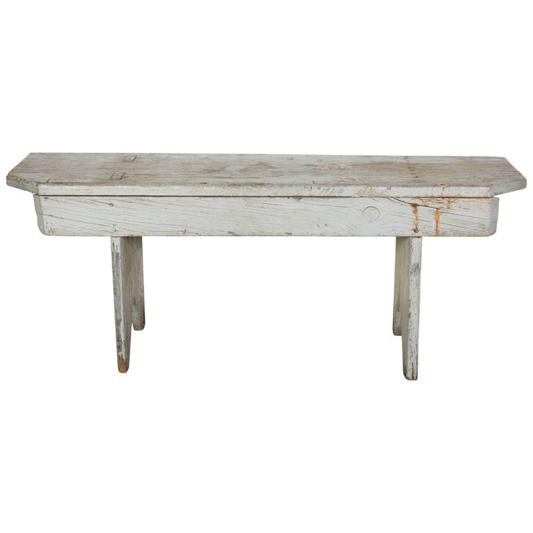 Early American Bench with Original Paint