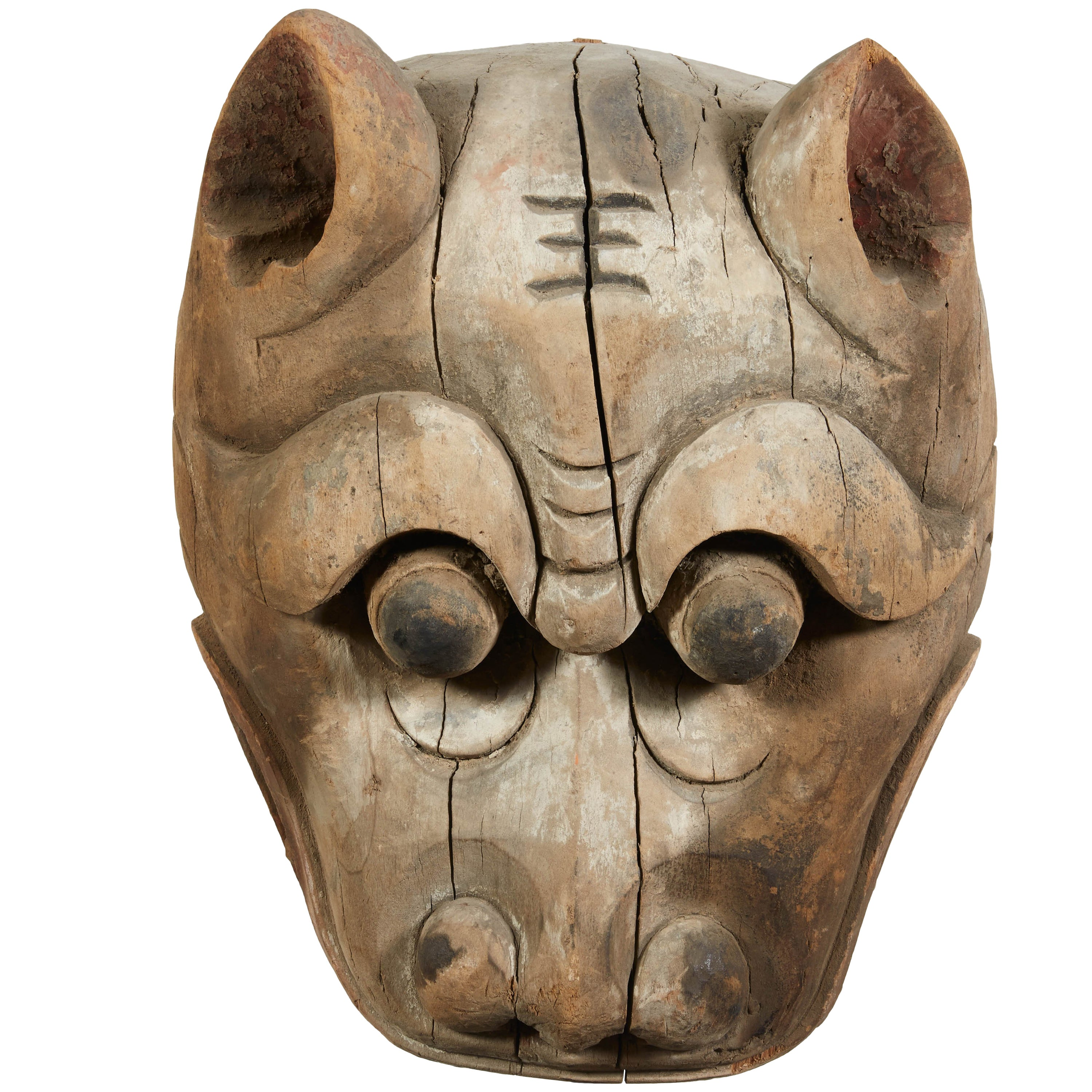 Antique Chinese Tiger Mask
