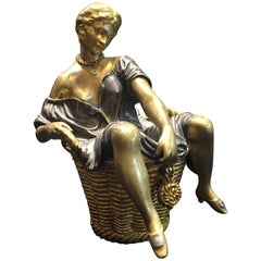 Jugenstil Viennese Bronze Erotic Paperweight with Secret Compartment circa 1900s