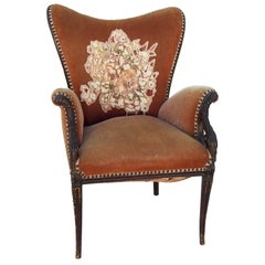 Mid-19th Century James K. Polk Wingback Chair