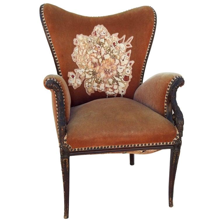 Mid-19th Century James K. Polk Wingback Chair