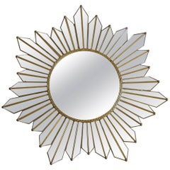 Sunburst Starburst Kaleidoscope Wall Mirror