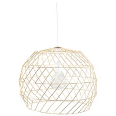 Contemporary Wire Array Pendant in Gold by Bend Goods