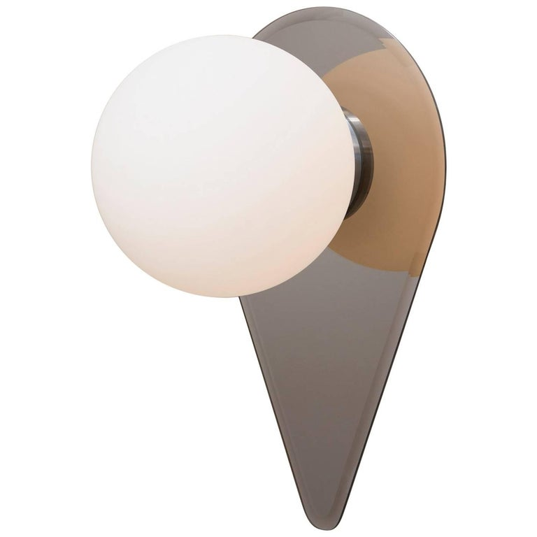 Vale Contemporary Sculptural Large Mirror Glass Globe Sconce Wall Light For Sale