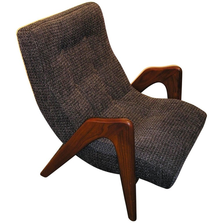 Adrian Pearsall Lounge Chair with Ottoman for Craft Associates Model 705-CW