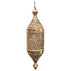 Moroccan Moorish Style Brass Pendant Light Fixture