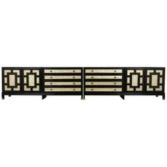 Mid-Century Modern Mother-of-Pearl Inlaid Grand Sideboard