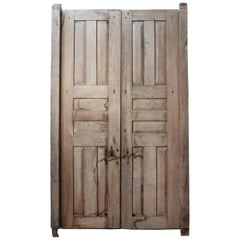 Early 20th Century Solid Mesquite Wood Door Found in Western México
