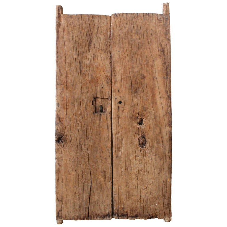 Early 19th Century Solid Mesquite Wood Gate Found in San Miguel de Allende For Sale
