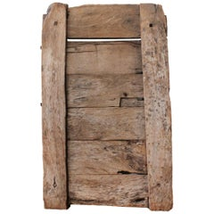 "Solid Mesquite Wood ""Corral"" Gate, circa 1800"