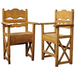 Late 19th Century Set of Chairs Found in Western Mexico