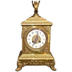 French Empire Style Bronze Mantel Clock