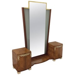 Art Deco Dressing Table with Illuminating Mirror