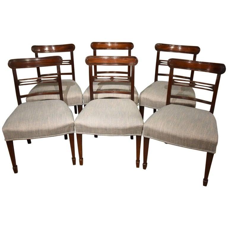 Set of Six Regency Period Mahogany Dining Chairs