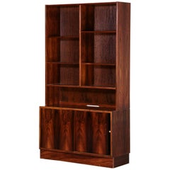 Rosewood Danish Bookcases by Poul Hundevad, 1970s Scandinavian