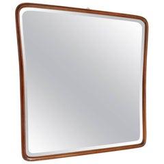 Midcentury Italian Wooden Framed Mirror, 1950s