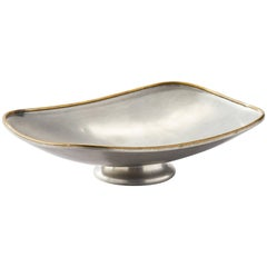 Swedish Pewter and Brass Bowl, Svenskt Tenn, Björn Trägårdh, 1943
