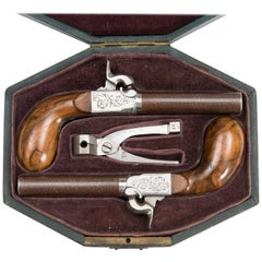 Pair of Mid-19th Century Belgian Percussion Pistols