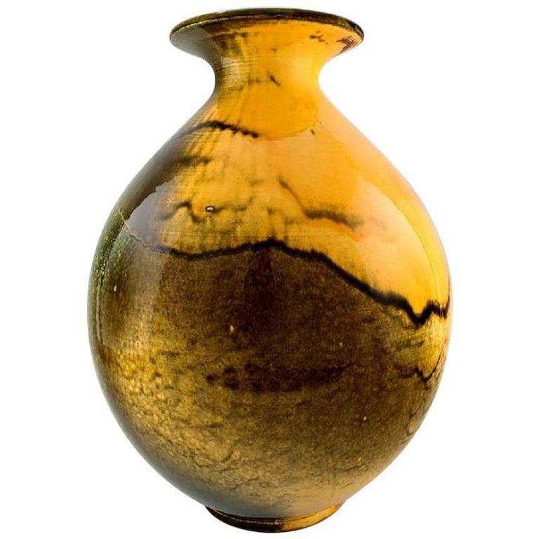 Huge Kähler, Denmark, Svend Hammershøi, Glazed Floor Vase in Stoneware