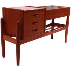 Small Sideboard in Teak with Metal Drawer by Arne Vodder, 1960s