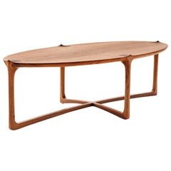 Handmade Coffee Table in Hardwood, Brazilian Contemporary Design