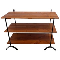 English Trestle Console Table with Removable Shelves, Offered by La Porte