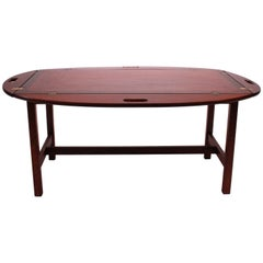 Butler's Tray in Polished Mahogany from the 1960s of Danish Design