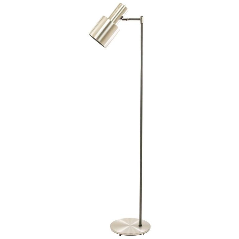 Studio Floor Lamp in Aluminium by Jo Hammerborg for Fog & Mørup, 1960s