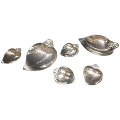 Tiffany & Co. Mid-Century Modern Sterling Silver Candy and Nut Set, circa 1950s