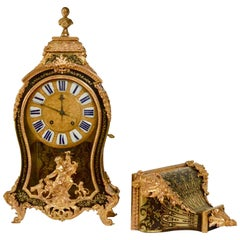 Louis XV Ormolu-Mounted, Boulle Maquetry Bracket Clock by Jean Bacquet, Paris