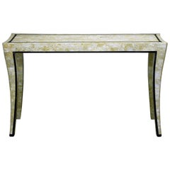Maitland and Smith Travertine Veneer Console Table