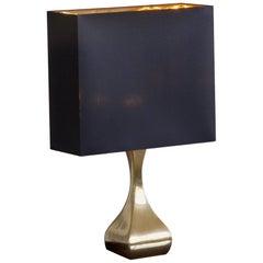 Midcentury Shaped Brass Table Light