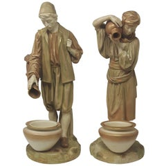 Pair of Royal Worcester Water Carriers