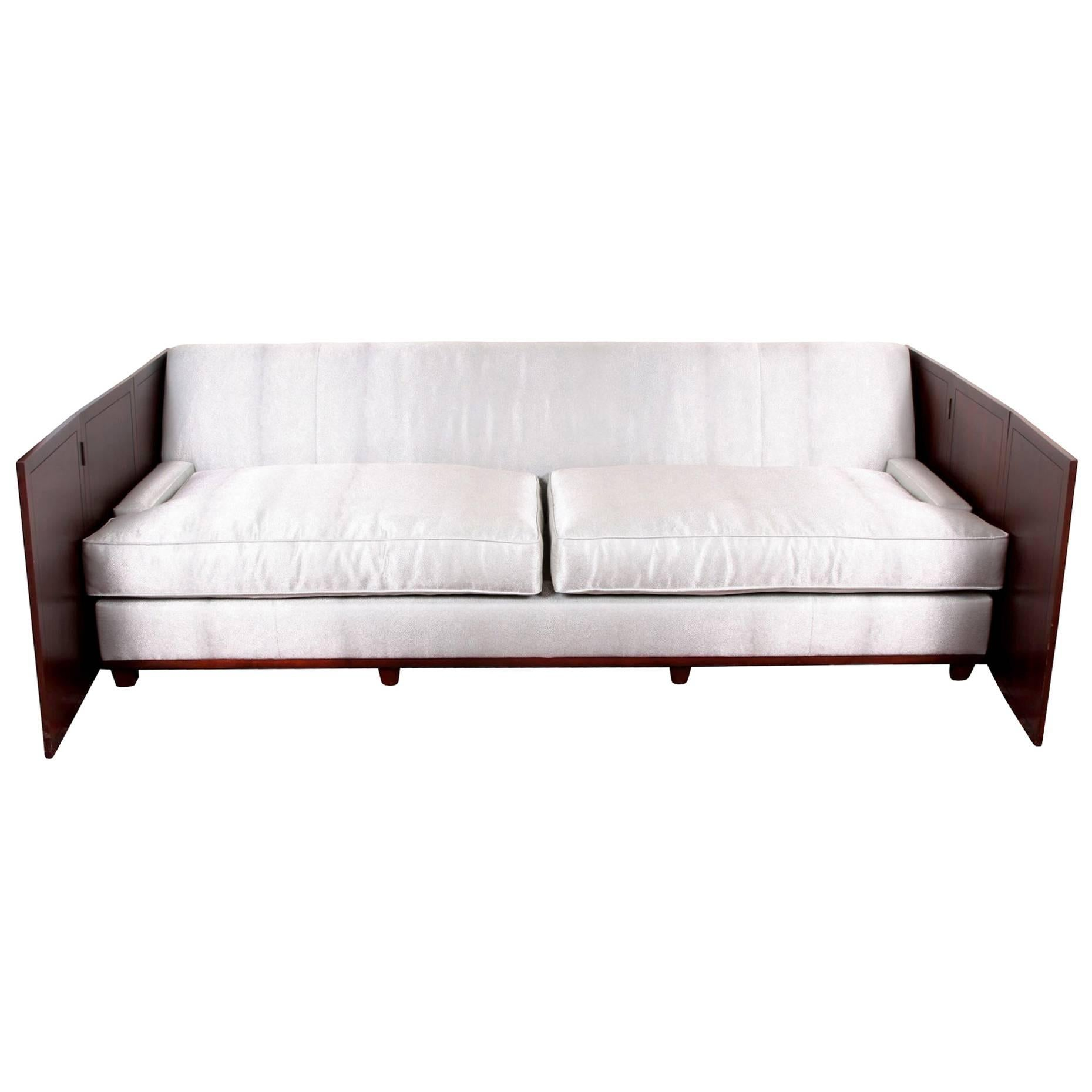 Holly Hunt Design Faux Shark Skin Sofa