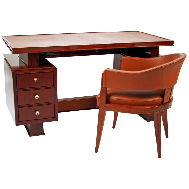 Art Deco Desk and Chair by Maxime Old