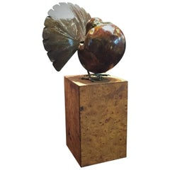 Charles Lamb, Pigeon, Hand-Hammered Copper Sculpture, circa 1980