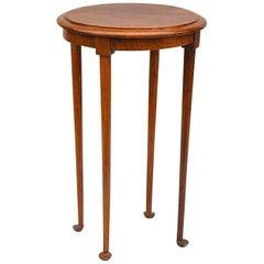 1950s Oak Pedestal Table on Rounded Feet, France