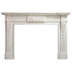 George III Statuary Marble Fireplace