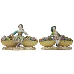 Pair of Minton Flower Sellers
