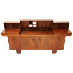 Walnut Sideboard by Silvio Coppola for Bernini, 1960s