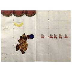 Varujan Boghosian Framed Paper Collage with Clowns