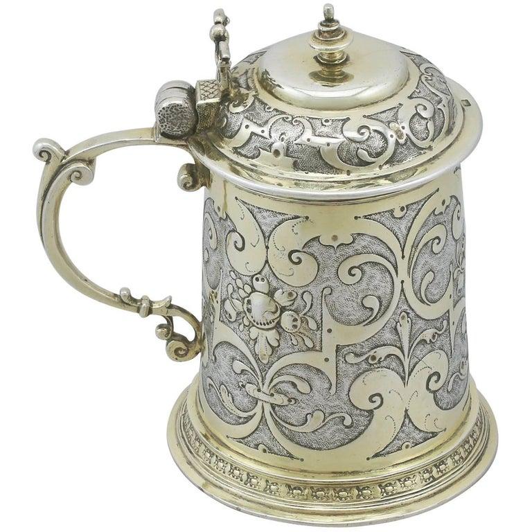 1610s German Silver Tankard