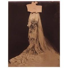 Varujan Boghosian Framed Abstract Collage, Bridal Series