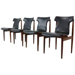 Set of Four Inger Klingenberg IK Dining Chairs Fristho Franeker, 1960