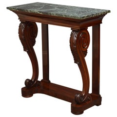 Exquisite William IV Mahogany Console Table