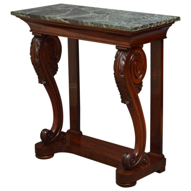 Exquisite William IV Mahogany Console Table
