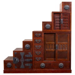 Tall Stacking Tansu Chest